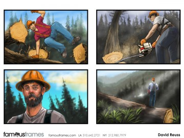 David Reuss's People - Color  storyboard art
