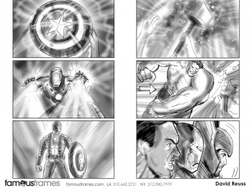 David Reuss's People - B&W Tone storyboard art