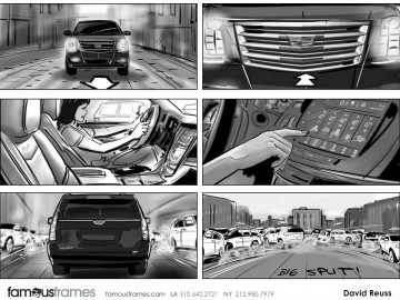 David Reuss's Shooting Vehicles storyboard art