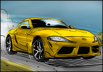 David Reuss's Vehicles storyboard art