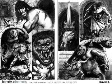 David Reuss's Comic Book storyboard art