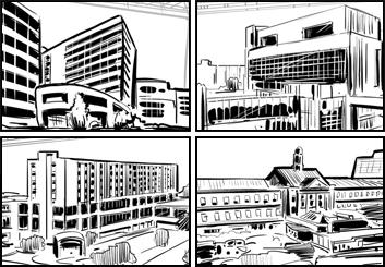 David Reuss's Architectural storyboard art