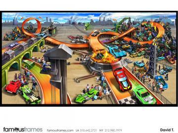 David Threadgold's Vehicles storyboard art