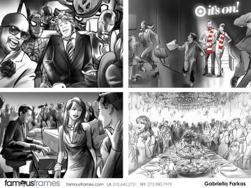 Gabriella Farkas's People - B&W Tone storyboard art