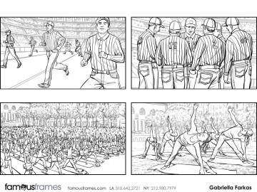 Gabriella Farkas's Sports storyboard art