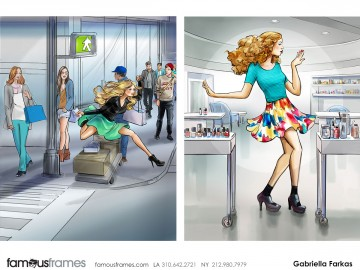 Gabriella Farkas's Beauty / Fashion storyboard art