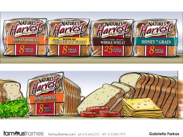 Gabriella Farkas's Food storyboard art