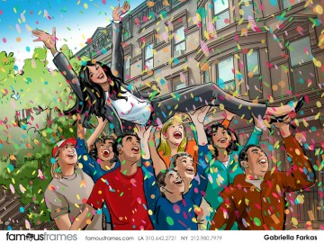 Gabriella Farkas's Action storyboard art