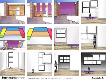 Gabriella Farkas's Architectural storyboard art