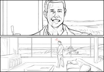 Brandon Hamilton's People - B&W Line storyboard art