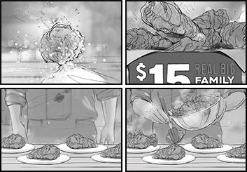Brandon Hamilton's Food storyboard art