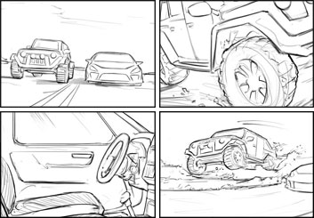 Brandon Hamilton's Shootingboards storyboard art