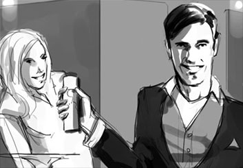 Brandon Hamilton's People - B&W Tone storyboard art