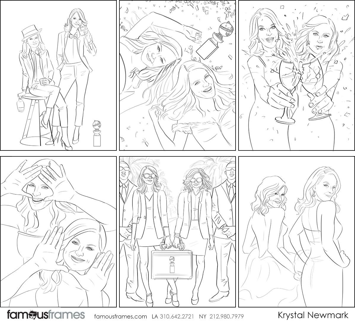 Krystal Newmark's People - B&W Line storyboard art (Image #5666_114_1559261718)