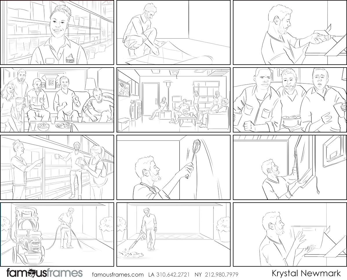 Krystal Newmark's People - B&W Line storyboard art (Image #5666_114_1578525766)