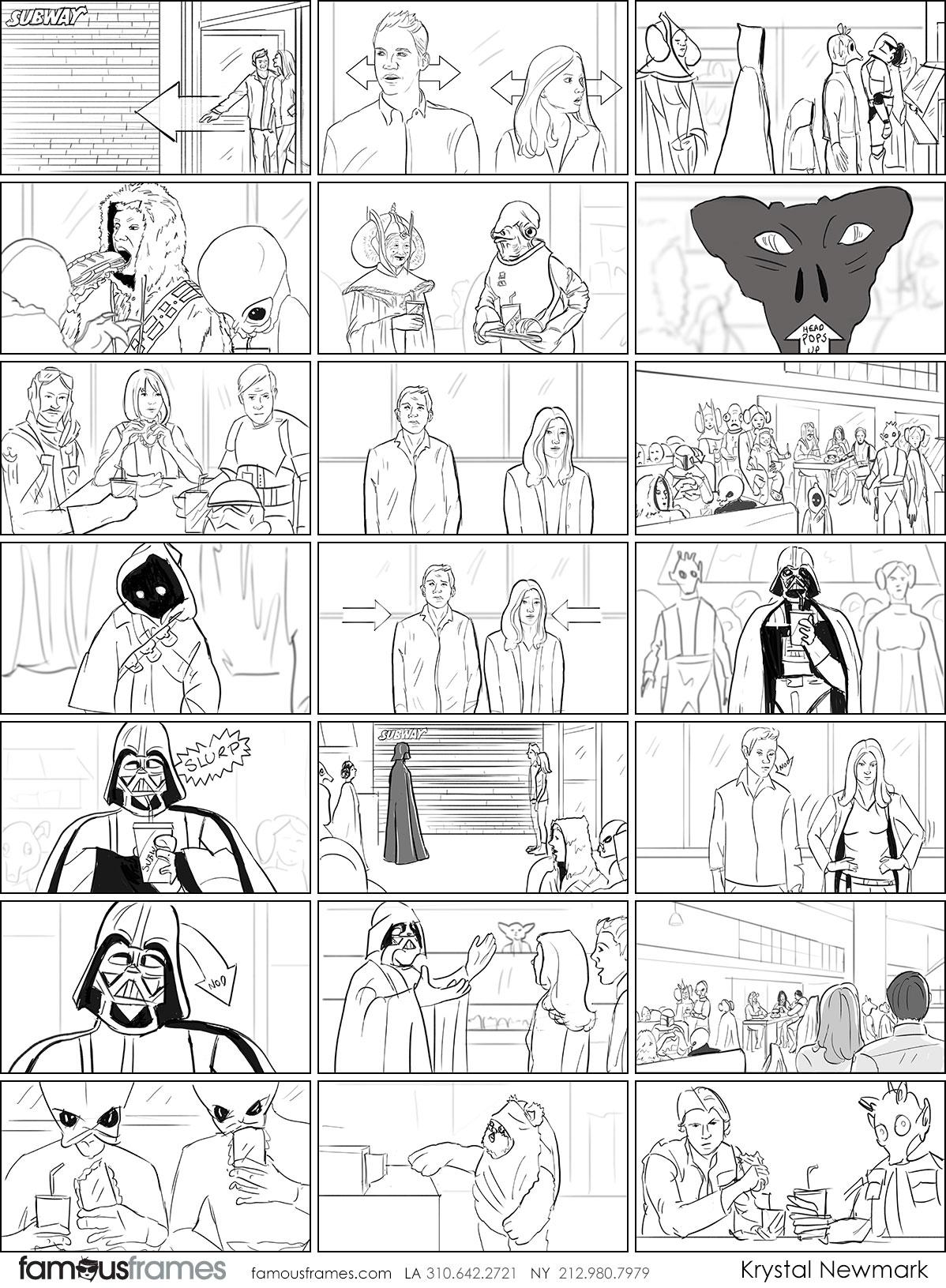 Krystal Newmark's People - B&W Line storyboard art (Image #5666_22_1507848331)