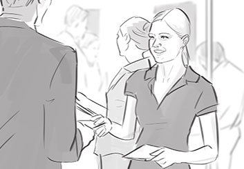 Krystal Newmark's People - B&W Tone storyboard art