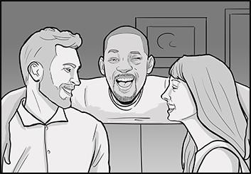 Krystal Newmark's People - B&W Tone storyboard art