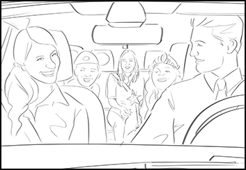 Krystal Newmark's People - B&W Line storyboard art