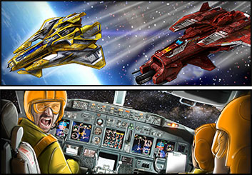Krystal Newmark's Sci-Fi storyboard art