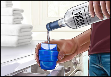 Krystal Newmark's Liquids storyboard art