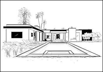 Krystal Newmark's Architectural storyboard art