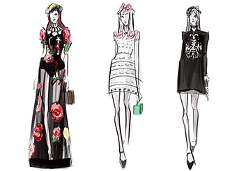 Krystal Newmark's Beauty / Fashion storyboard art