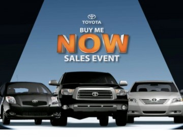 Toyota: Buy Me Now Sale