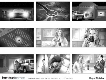 Hugo Dipietro's People - B&W Tone storyboard art