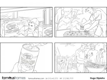 Hugo Dipietro's People - B&W Line storyboard art