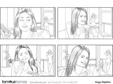 Hugo Dipietro's People - B&W Line storyboard art
