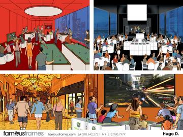 Hugo Dipietro's Environments storyboard art