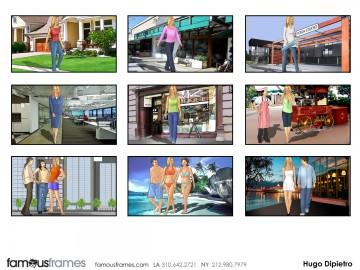 Hugo Dipietro's Beauty / Fashion storyboard art