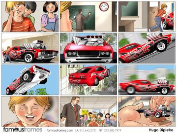 Hugo Dipietro's Kids storyboard art