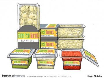 Hugo Dipietro's Products storyboard art