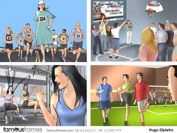 Hugo Dipietro's Sports storyboard art