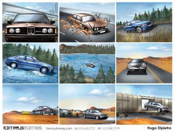 Hugo Dipietro's Vehicles storyboard art