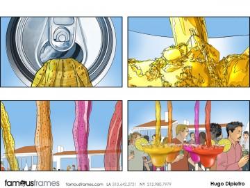 Hugo Dipietro's Liquids storyboard art