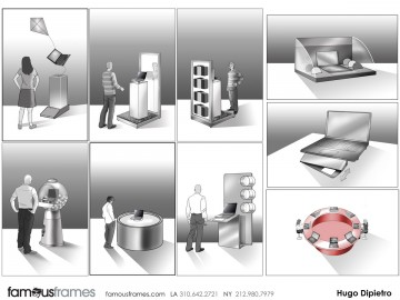 Hugo Dipietro's Events / Displays storyboard art