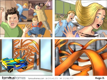 Hugo Dipietro's Toys storyboard art
