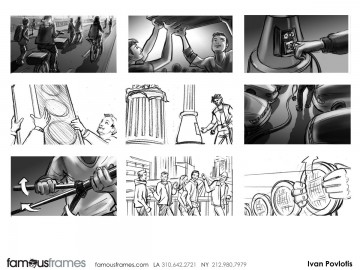Ivan Pavlovits's People - B&W Tone storyboard art