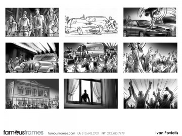 Ivan Pavlovits's People - B&W Tone storyboard art