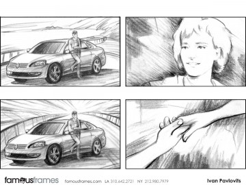Ivan Pavlovits's People - B&W Line storyboard art