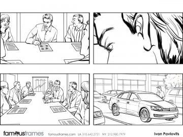 Ivan Pavlovits's People - B&W Line storyboard art