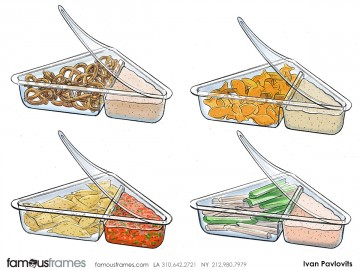 Ivan Pavlovits's Food storyboard art