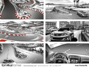 Ivan Pavlovits's Sports storyboard art