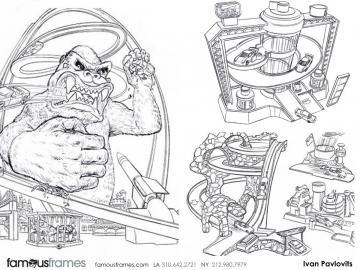 Ivan Pavlovits's Toys storyboard art