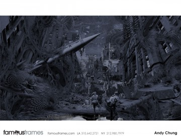 Andy Chung's Concept Environments storyboard art