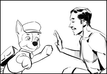 Lanny Markasky's People - B&W Line storyboard art