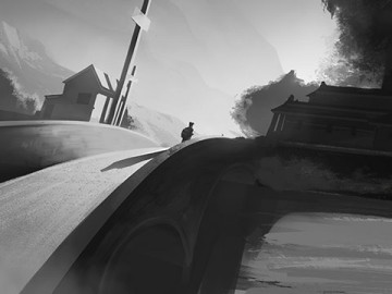 Lanny Markasky's Environments storyboard art